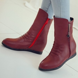Ericdress Preppy Style Side Zipper Ankle Boots