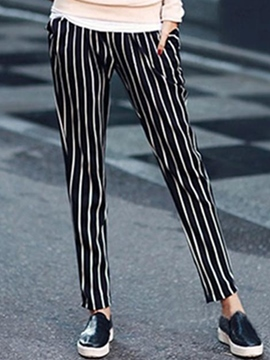 Ericdress Simple Stripe Pants