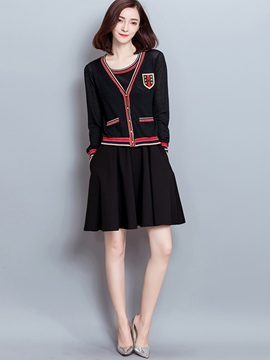 Ericdress Preppy Style Dress Suit