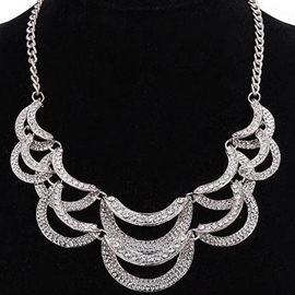 Ericdress Alloy Diamante E-Plating Necklace