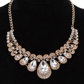 Ericdress Gold Plated with Rhinestone Women Necklace