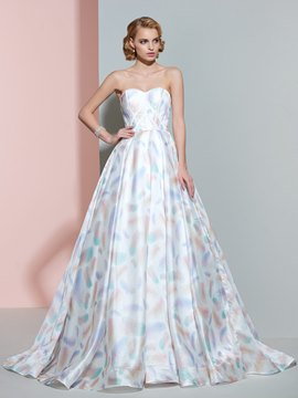 Ericdress Beautiful Sweetheart Printed A Line Wedding Dress