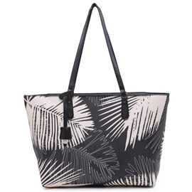 Ericdress Leaf Print Tote Bag