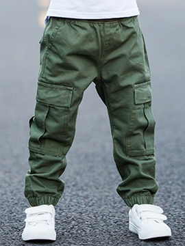 Ericdress Army Overalls Large Pocket Foot Beam Boys Bottoms
