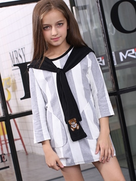 Ericdress Fake two Color Block Patchwork Girls Tops