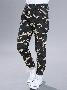 Ericdress Fashion Camo Pocket Elastic Boys Bottoms