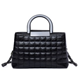 Ericdress Black Plaid Embroidery Handbag