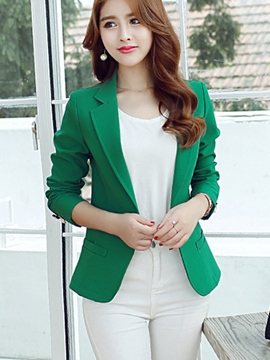 Ericdress Plain Slim Polo Blazer