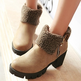 Ericdress Retro Round Toe Ankle Boots