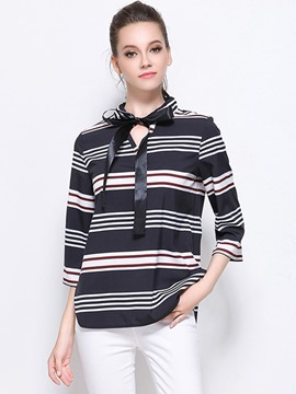 Ericdress Stripped Loose Plus Size T-Shirt