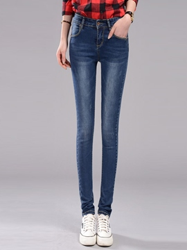 Ericdress Simple Straight Jeans