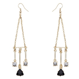 Ericdress Gold Plated Dangle Earrings