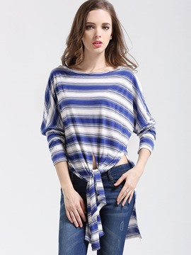 Ericdress Casual Stripped T-Shirt