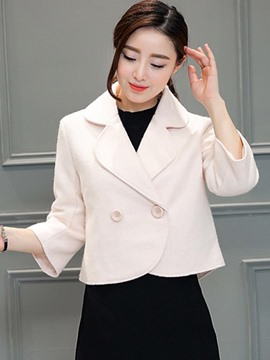 Ericdress Two-Button Solid Color Loose Blazer
