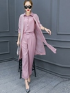 Ericdress Solid Color Three-Piece Suit
