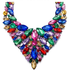 Ericdress Colorful Crystal Necklace