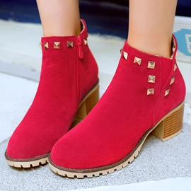 Ericdress Rivets Decorated Ankle Boots