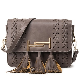 Ericdress Stylish Weaved Tassel Crossbody Bag