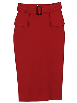 Ericdress Elegant Solid Color Column Skirt