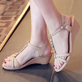 Ericdress Lovely T Strap Wedge Sandals