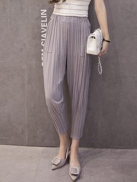 Ericdress Casual Pleated Lantern Pants