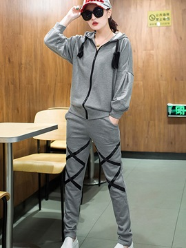 Ericdress Unique Zipper Hoodie Sports Suit
