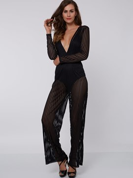 Ericdress Unique See Through Jumpsuits Pants