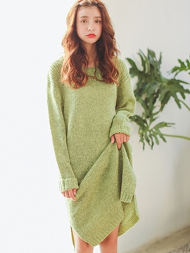 Ericdress Plain Straight Sweater Dress