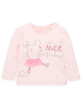 Ericdress Cotton Knitting Print Mesh Patchwork Girls Tops