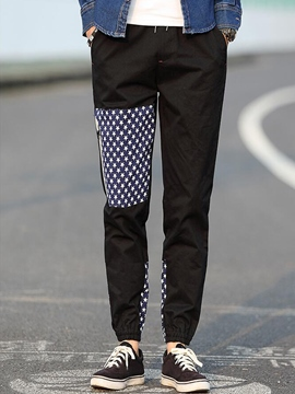 Ericdress Print Unique Casual Men's Pencil Pants
