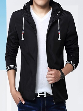 Ericdress Hood Thin Casual Men's Jacket