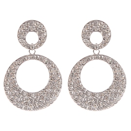Ericdress Full Rhinestone Circle Earrings