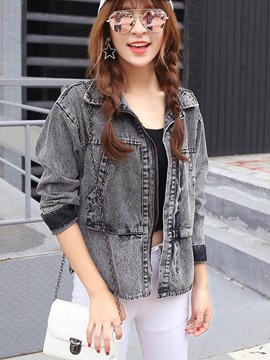 Ericdress Casual Loose Denim Outerwear