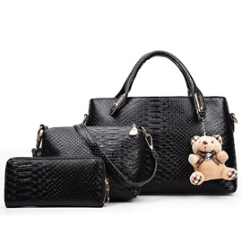 Ericdress Ladylike Embossed Handbags(3 Bags)