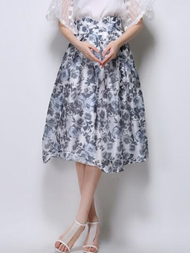 Ericdress Sweet Floral Usual Skirt
