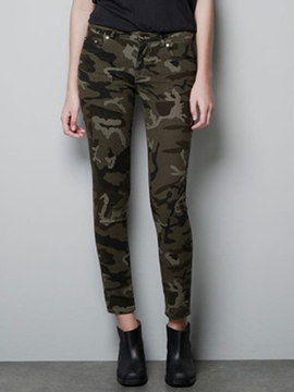 Ericdress Simple Camouflage Pants