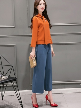 Ericdress Color Block Two-Piece Leisure Suit