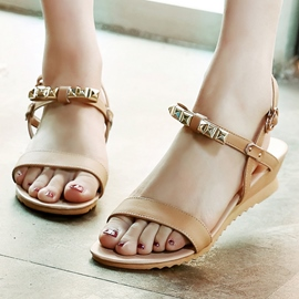 Ericdress Pretty Metal Decorated Wedge Sandals