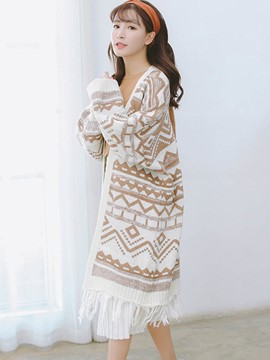 Ericdress Loose Geometric Wrapped Knitwear