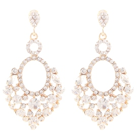 Ericdress Shining Rhinestone Flower Earrings