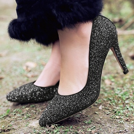 Ericdress Glittering Sequins Point Toe Pumps