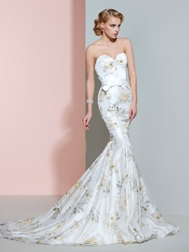Ericdress Beautiful Sweetheart Mermaid Printed Wedding Dress