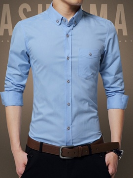 Ericdress Button Down Vogue Slim Men's Shirt