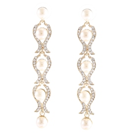 Ericdress Tulip Pearl Earrings