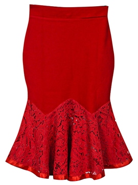 Ericdress Sweet Lace Patchwork Mermaid Skirt