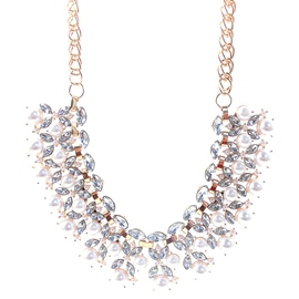 Ericdress Pearl & Rhinestone Design Necklace