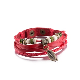 Ericdress Multilayer Retro Red Leather Bracelet