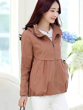 Ericdress Loose Solid Color Jacket