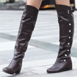 Ericdress Charming Rivets Knee High Boots