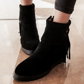 Ericdress Lovely Suede Tassels Ankle Boots